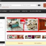 Site for the Czech furniture store Winglis
